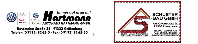 Logos Unterstützer der SG Rüsselbach